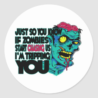 Tripping You Classic Round Sticker