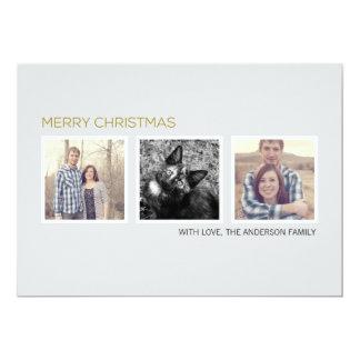 Tripple Photo Design Christmas Photo Flat Cards