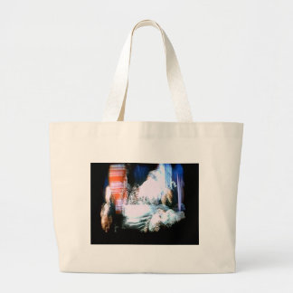 trippy1 graphic large tote bag