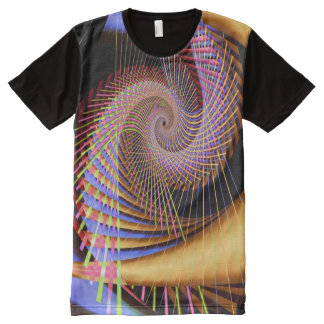 Trippy 2 Psychedelic Abstract Fine Fractal All-Over Print T-shirt