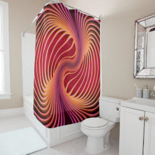 Trippy 5 Shower Curtain