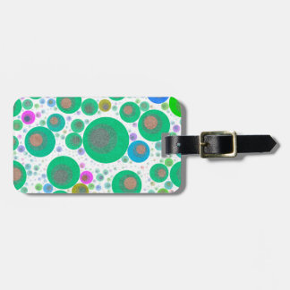 Trippy Abstract Bubble Pattern Bag Tag