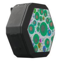 Trippy Abstract Bubble Pattern Black Bluetooth Speaker