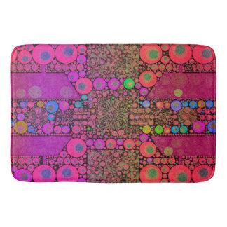 Trippy Abstract Leopard Bathroom Mat