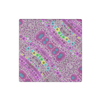 Trippy Abstract Pattern Stone Magnet