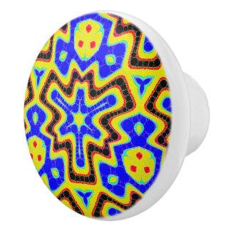 Trippy Abstract Wavy Pattern Ceramic Knob