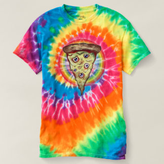 Trippy Acid Rainbow pizza shirt