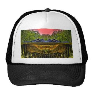Trippy Alligator Trucker Hat