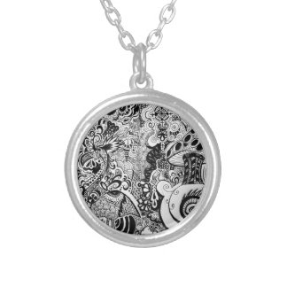 Trippy Art Design Necklace