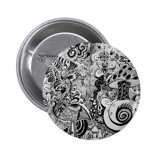 Trippy Art Design Pinback Button
