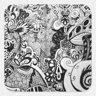 Trippy Art Design Square Sticker