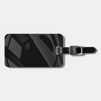 Trippy Black&White Abstract Bag Tag