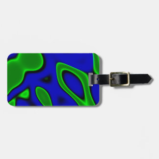 Trippy Blue Green Abstract Bag Tag