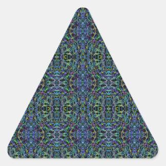 Trippy Blue Green Quilt Geometric Triangle Sticker