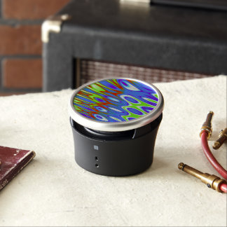Trippy Blue Green White Abstract Bluetooth Speaker