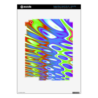 Trippy Blue Green White Abstract Decal For iPad 3