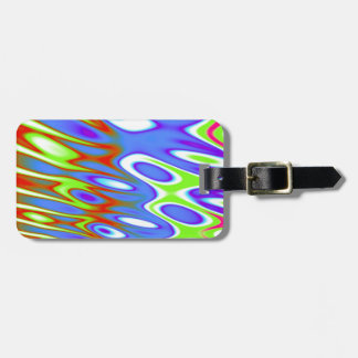 Trippy Blue Green White Abstract Tag For Luggage
