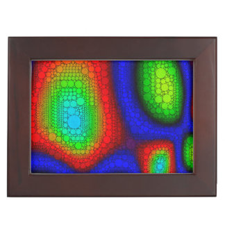 Trippy Blue Red Green Abstract Memory Box