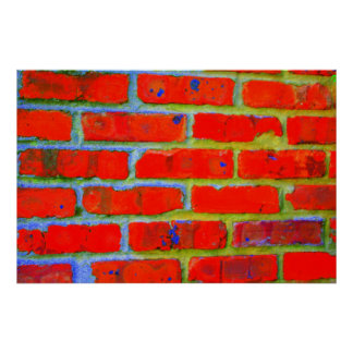 Trippy Bricks Poster