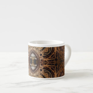 Trippy Brown Eyes Abstract Espresso Cup
