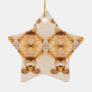 Trippy Bunnies Ceramic Ornament