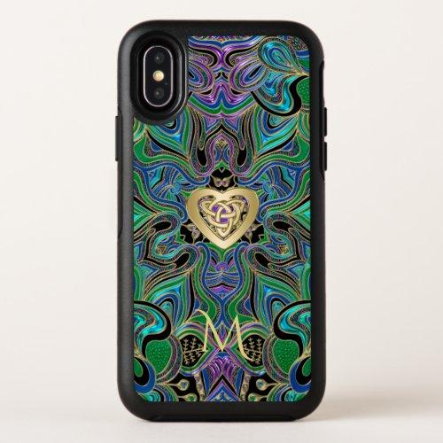 Trippy Celtic Heart Knot Mandala Monogram Phone Case