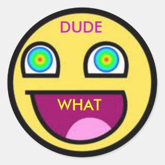 trippy classic round sticker