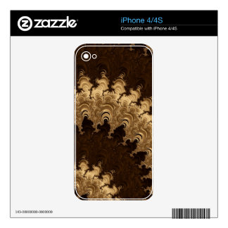 Trippy Coffee Cream Fractal Art iPhone 4S Decal