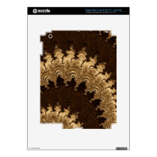 Trippy Coffee Cream Fractal Art Decal For iPad 3