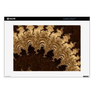 "Trippy Coffee Cream Fractal Art 15"" Laptop Skins"