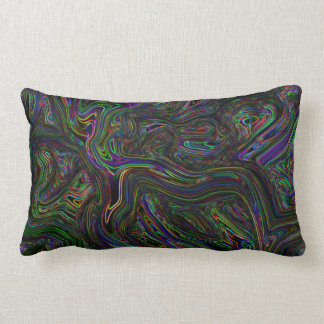 Trippy Dark Energy Throw Pillow