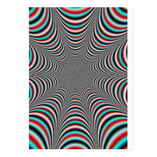 trippy design postcard
