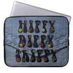 Trippy Dippy del hippy retro 60s Funda Portátil