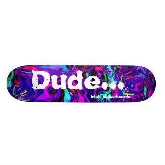 Trippy dude...-purple DeLuca Skateboard Deck