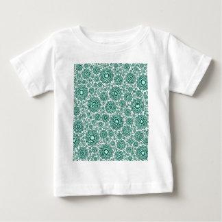 trippy floral aqua (C) Baby T-Shirt