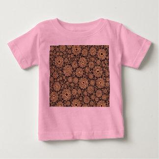 trippy floral golden (C) Baby T-Shirt