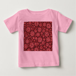 trippy floral red (c) baby T-Shirt