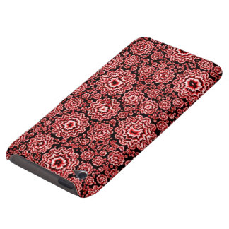 trippy floral red (c) barely there iPod case