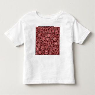 trippy floral red (c) toddler t-shirt