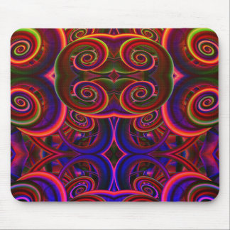 Trippy Florescent Abstract Mouse Pad