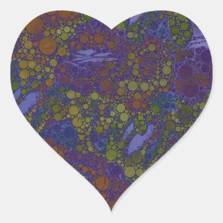 Trippy Florescent Abstract Pattern Heart Sticker