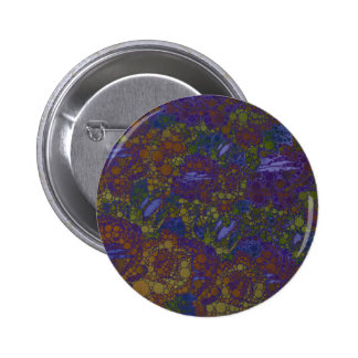 Trippy Florescent Abstract Pattern Pinback Button