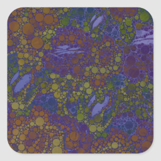 Trippy Florescent Abstract Pattern Square Sticker
