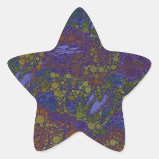 Trippy Florescent Abstract Pattern Star Sticker