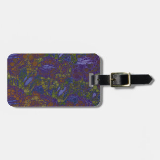 Trippy Florescent Abstract Pattern Tag For Luggage