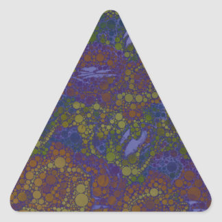 Trippy Florescent Abstract Pattern Triangle Sticker