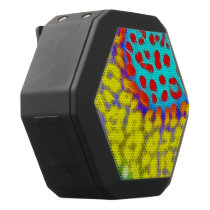 Trippy Florescent Abstract Texture Black Bluetooth Speaker