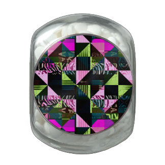 Trippy Florescent Pink Diva Glass Candy Jars