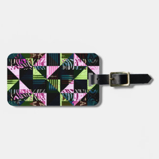 Trippy Florescent Pink Diva Luggage Tag