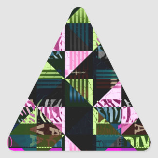 Trippy Florescent Pink Diva Triangle Sticker